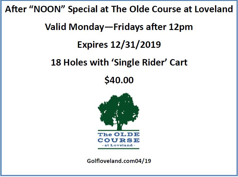 OCAL Mon-Friday Noon Special 2018 Coupon