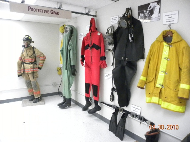 Photo of Protective Gear at Fire Exhibit