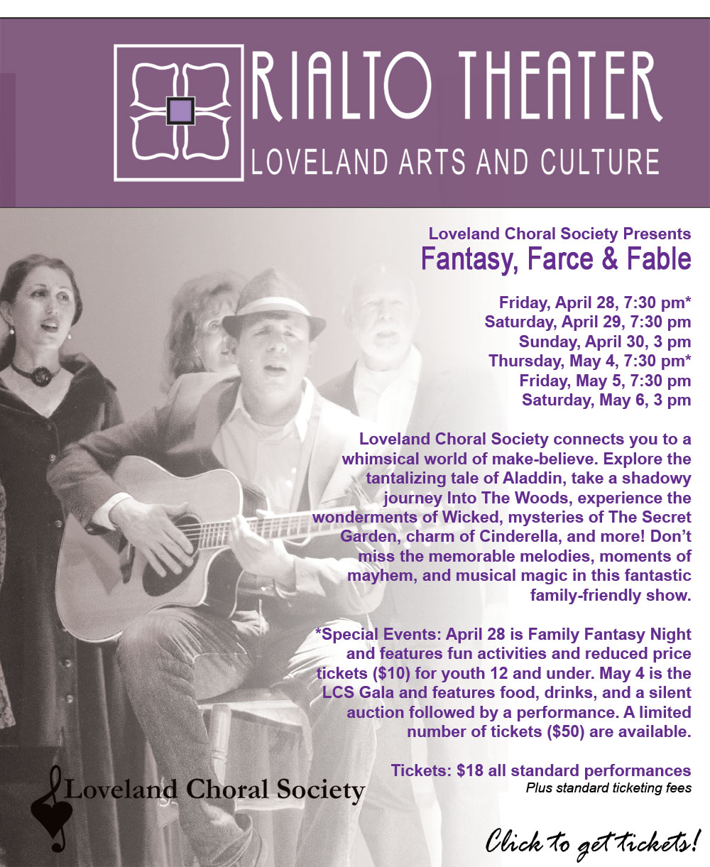 Loveland Choral Society presents Fantasy, Farce & Fable