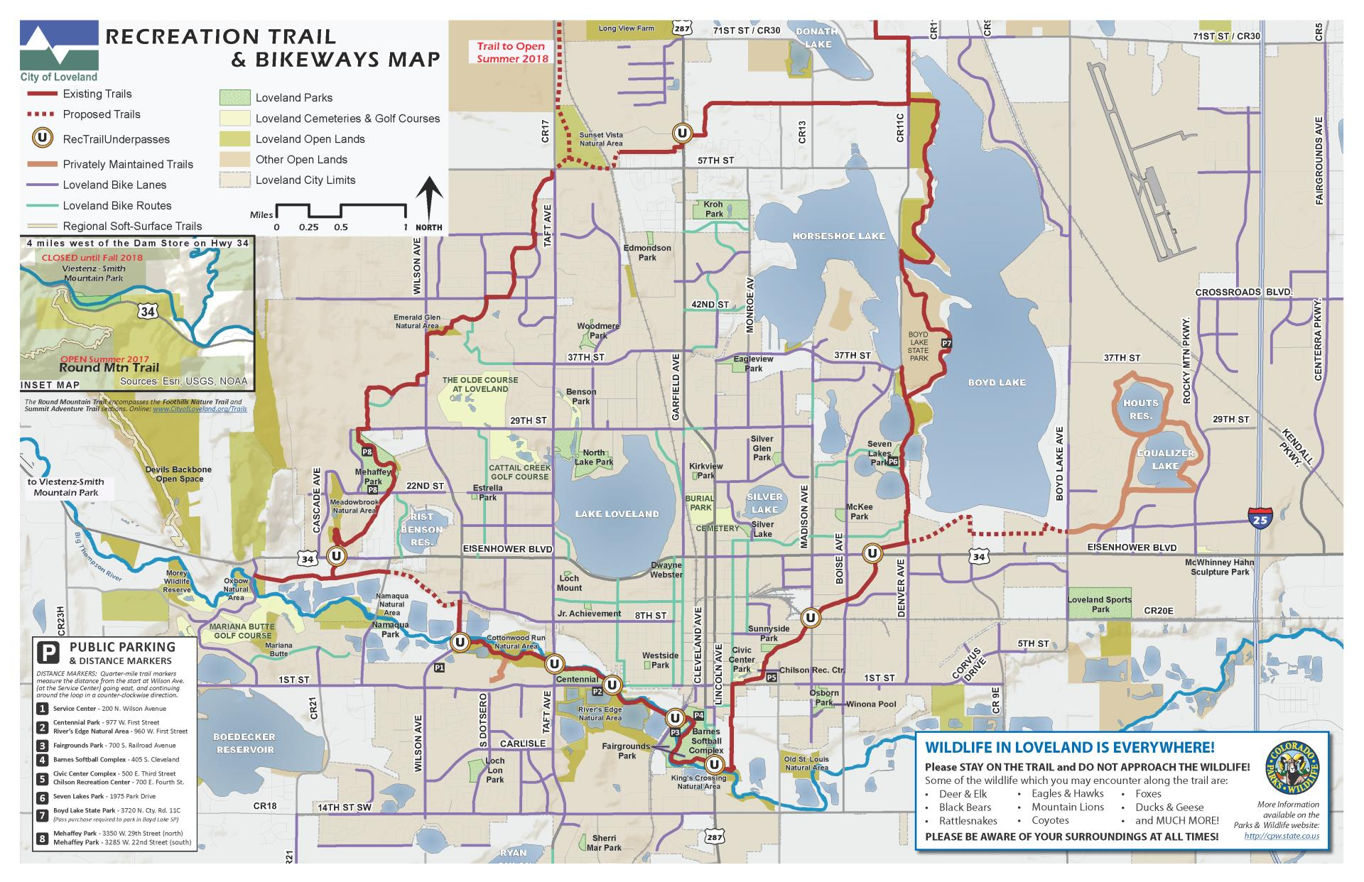 Recreation Trails City Of Loveland - Us bicycle route system map