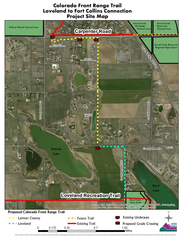 Front Range Trail North Project Site Map