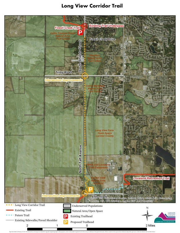 Long View Corridor Trail Project Map