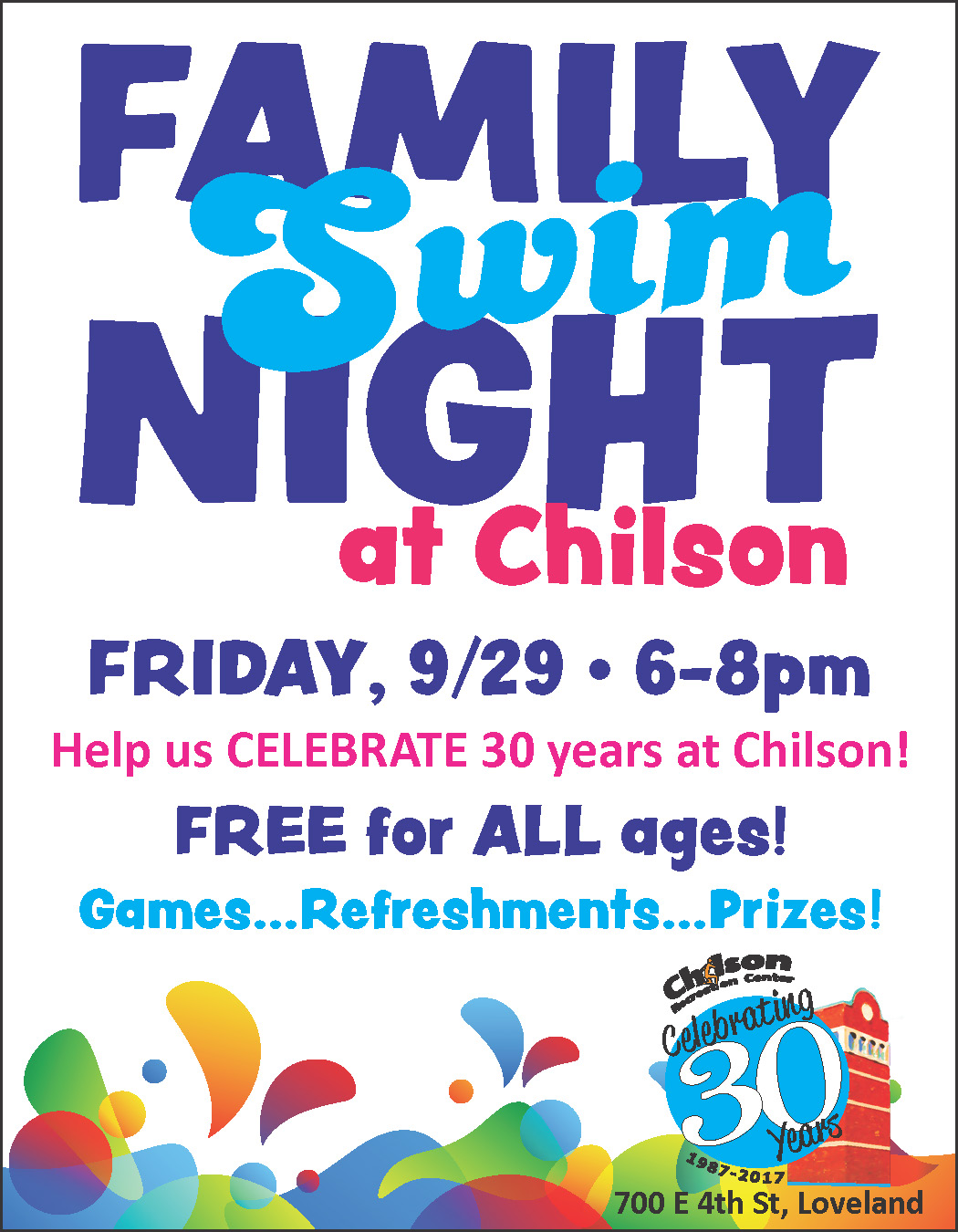 Family Swim Night at the Chilson Center