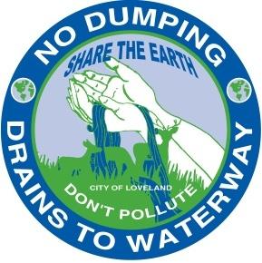 No Dumping, stormdrain marker