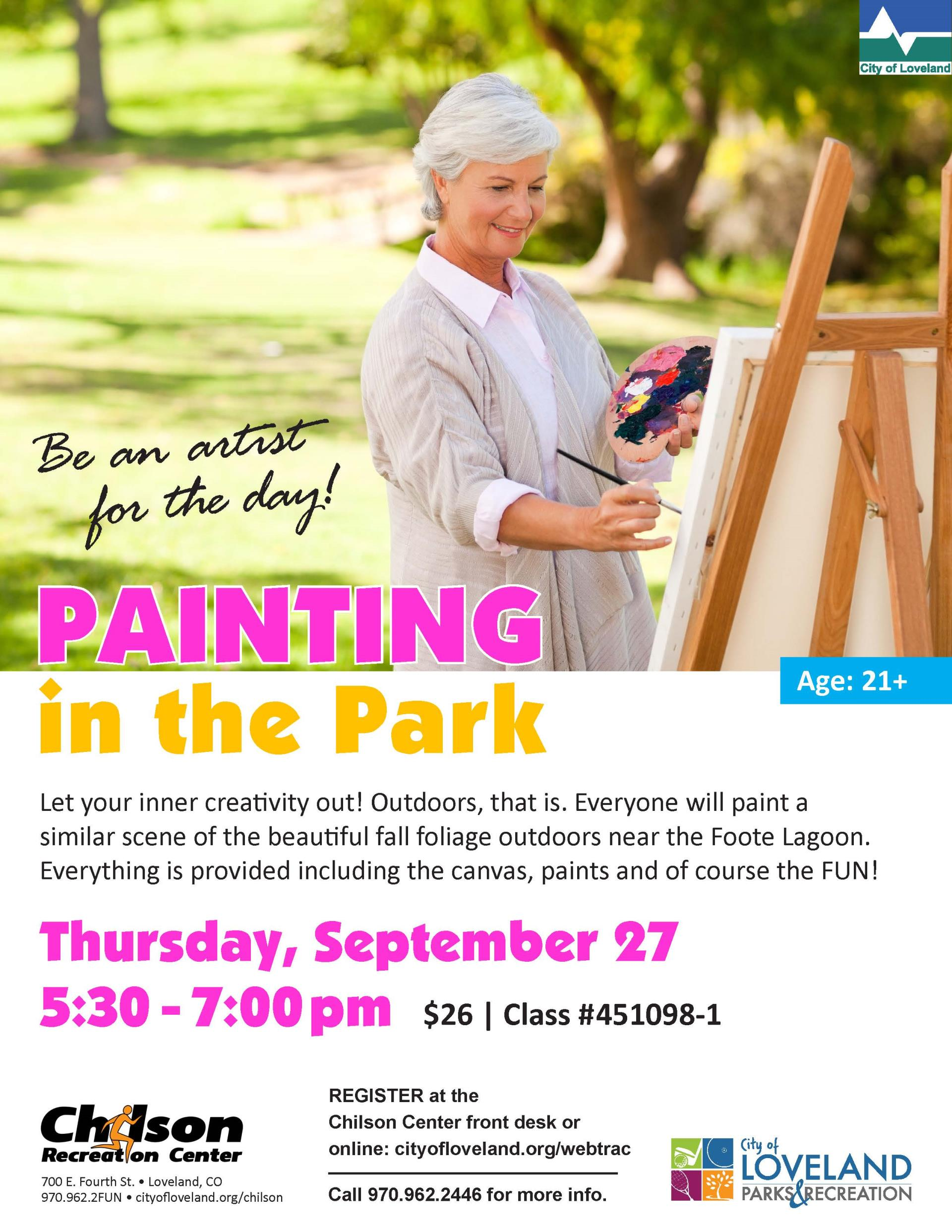 Painting in the Park at Foote Lagoon