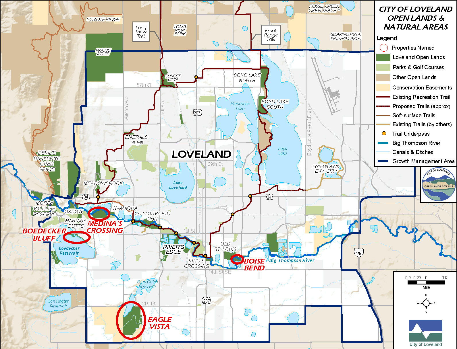 new open lands in Loveland map