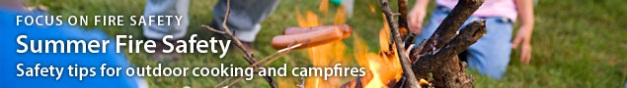 Summer Fire Safety Banner Photo