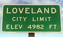 Loveland City Limits Sign