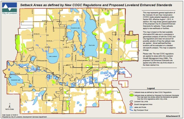 Oil Gas Development In Loveland City Of Loveland