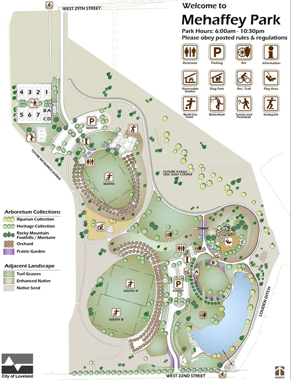 Mehaffey Park Site Plan