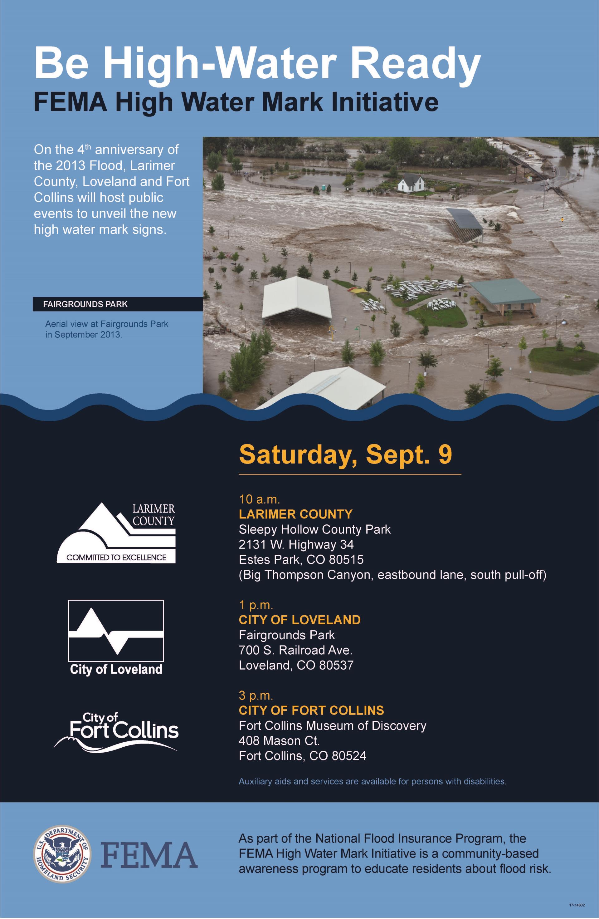 High Water Mark Initiative | Parks & Recreation Calendar of Events