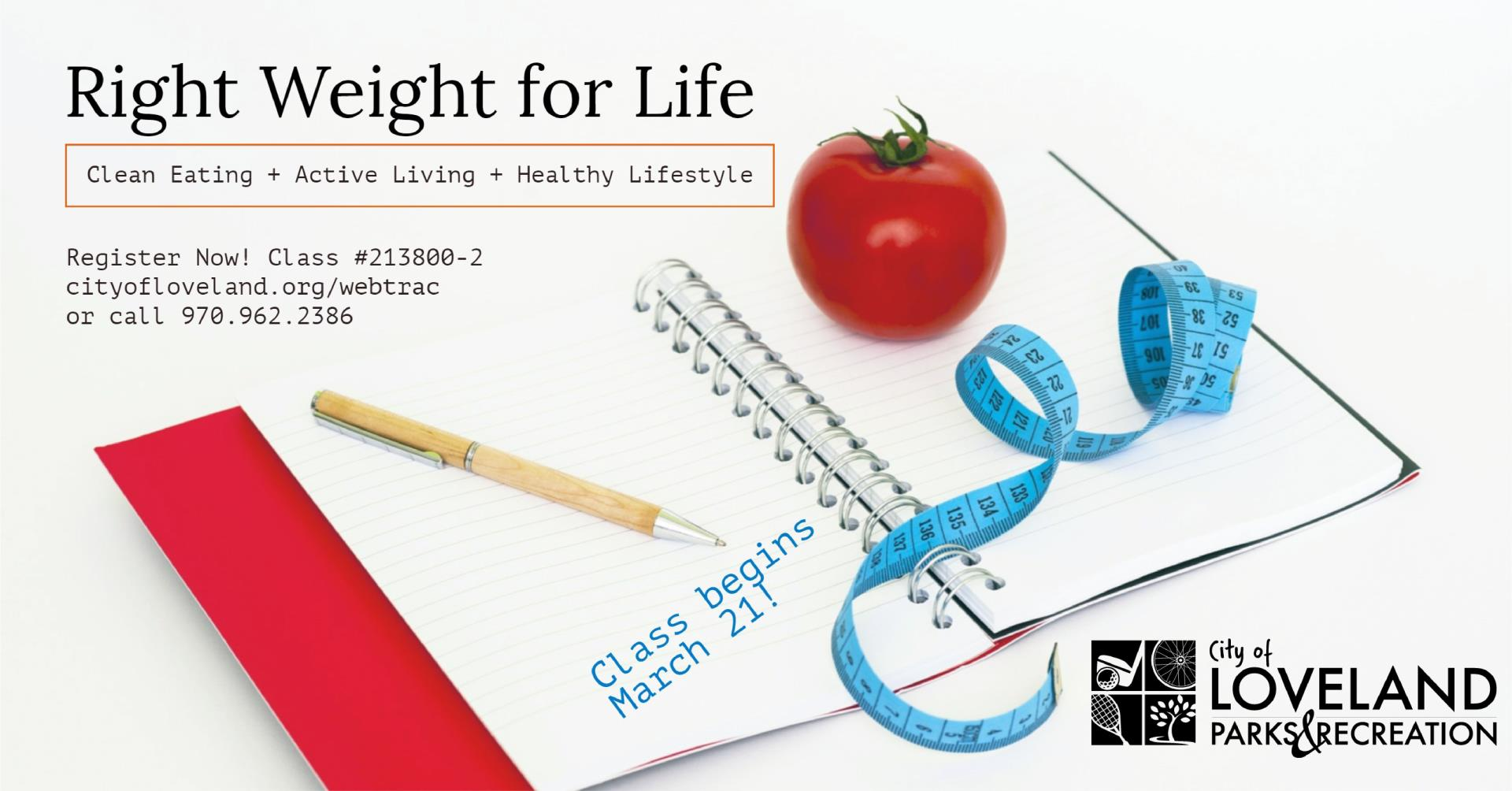 Register now for Right Weight for Life class