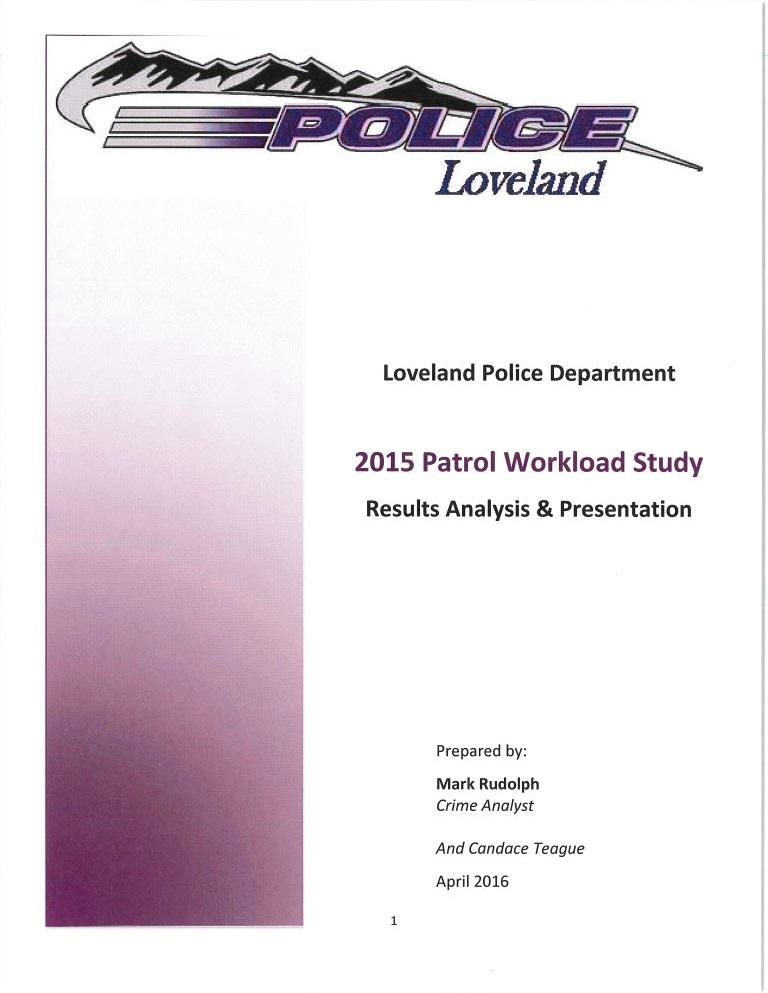 2015 Patrol Workload Study