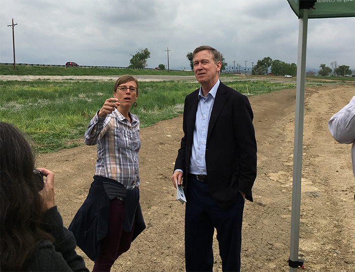 Kelly Smith & Gov. Hickenlooper