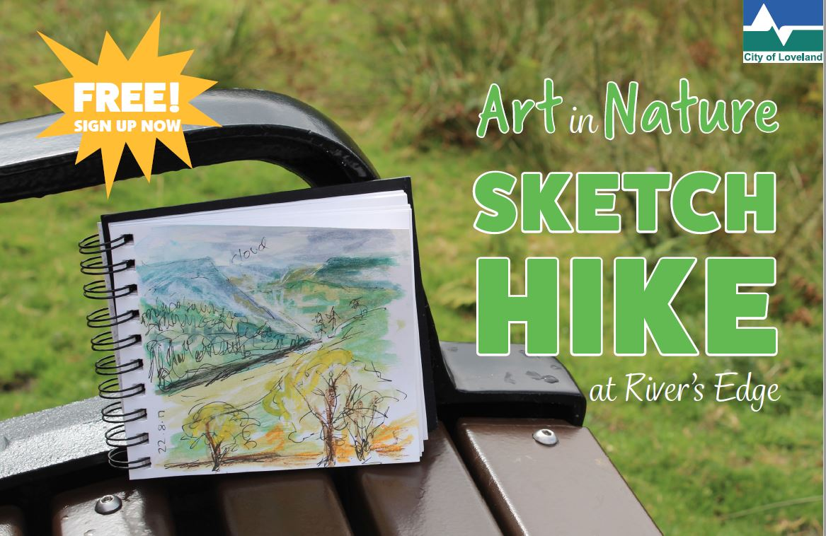 sketch & hike at River's Edge in Loveland
