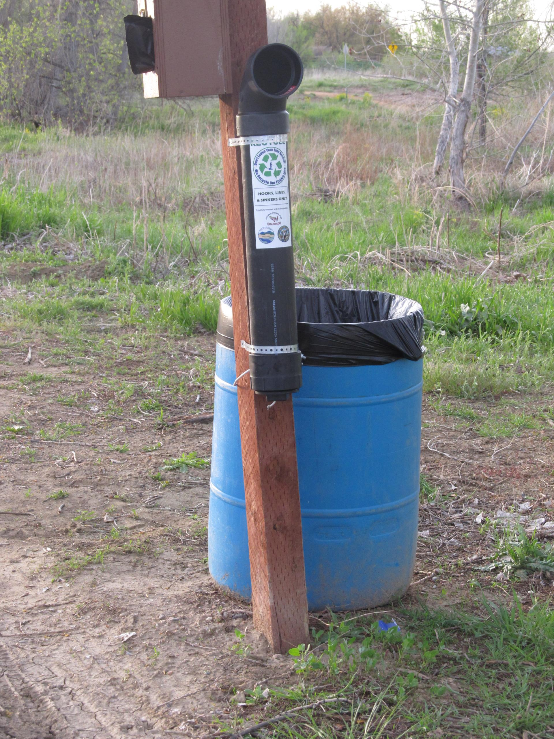 recycling tube for fishing line