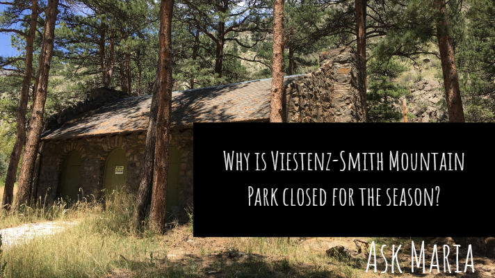 Why is Viestenz-Smith Mountain Park closed for the season?