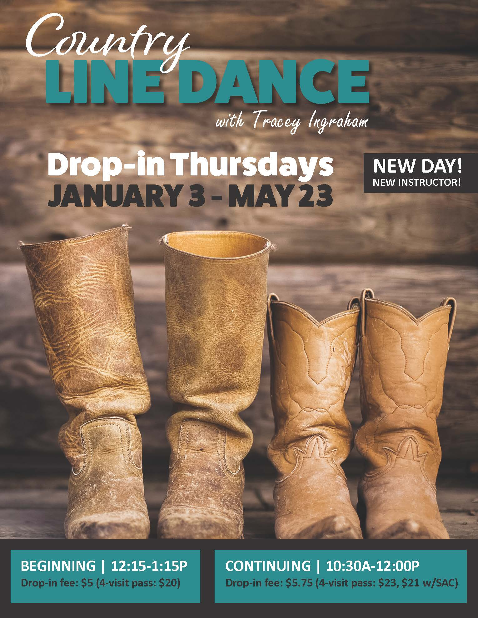 Country Line Dance at Chilson Recreation Center