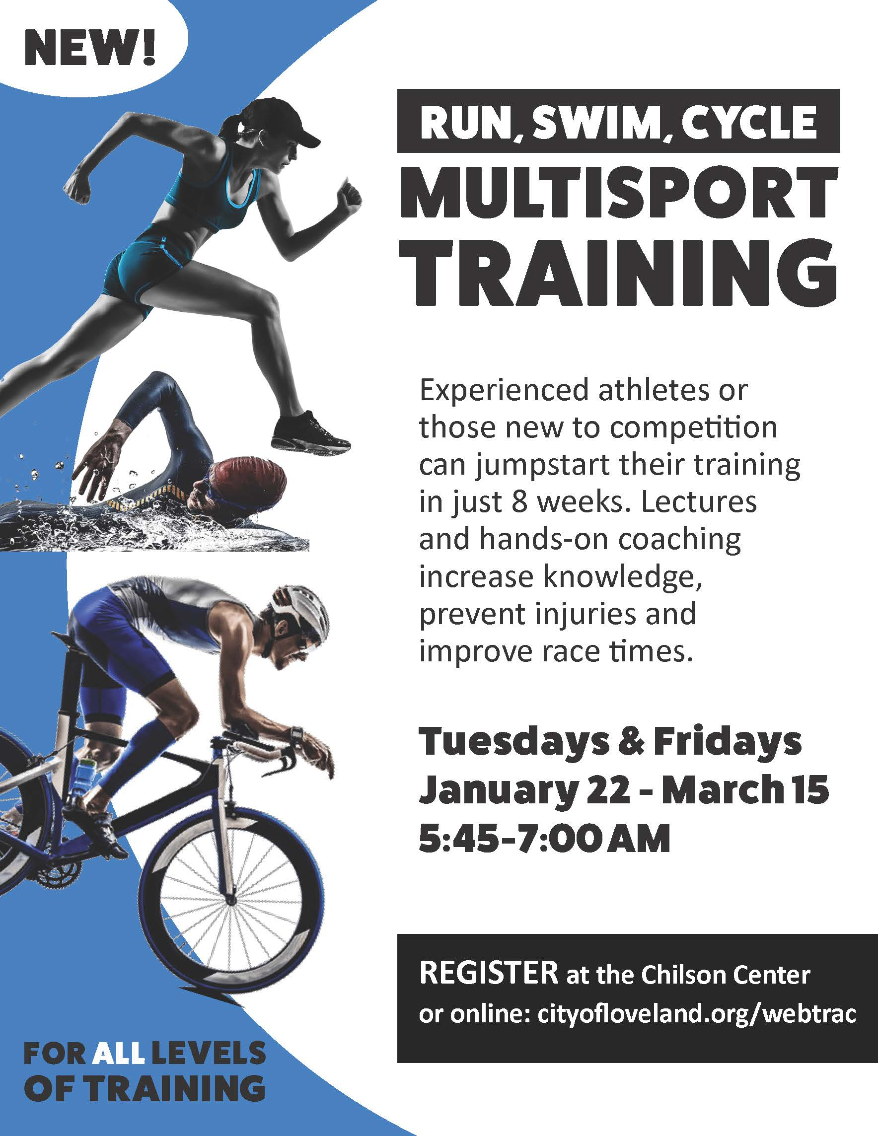 multisport training for swimmers, cyclists and runners
