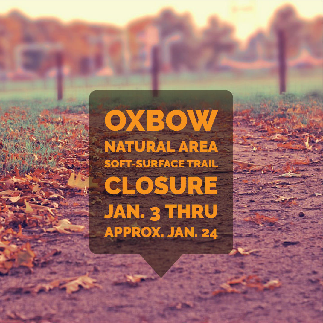 soft-surface trail closure at Oxbow Natural Area