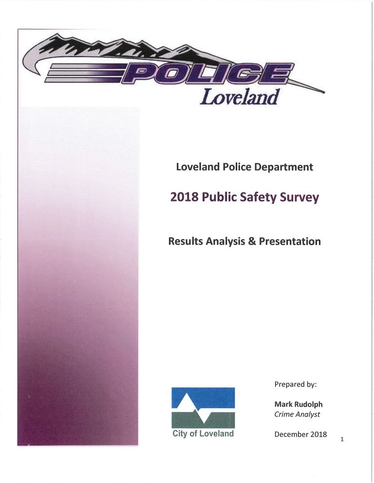 2018 Public Safety Survey