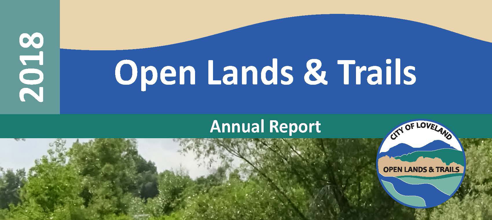 cover of 2018 open lands & trails annual report