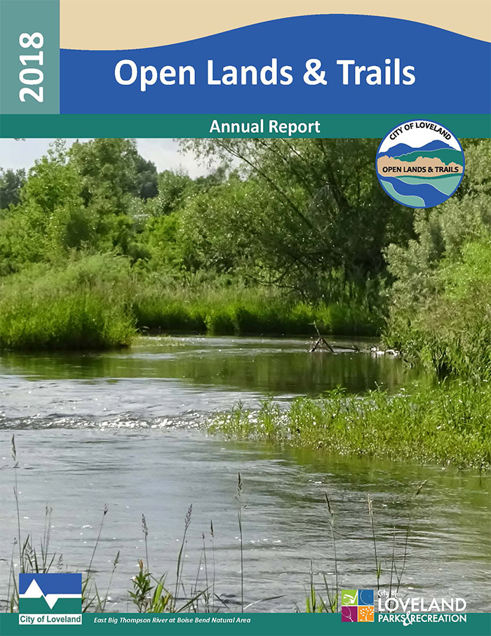 2018 Open Lands & Trails annual report cover