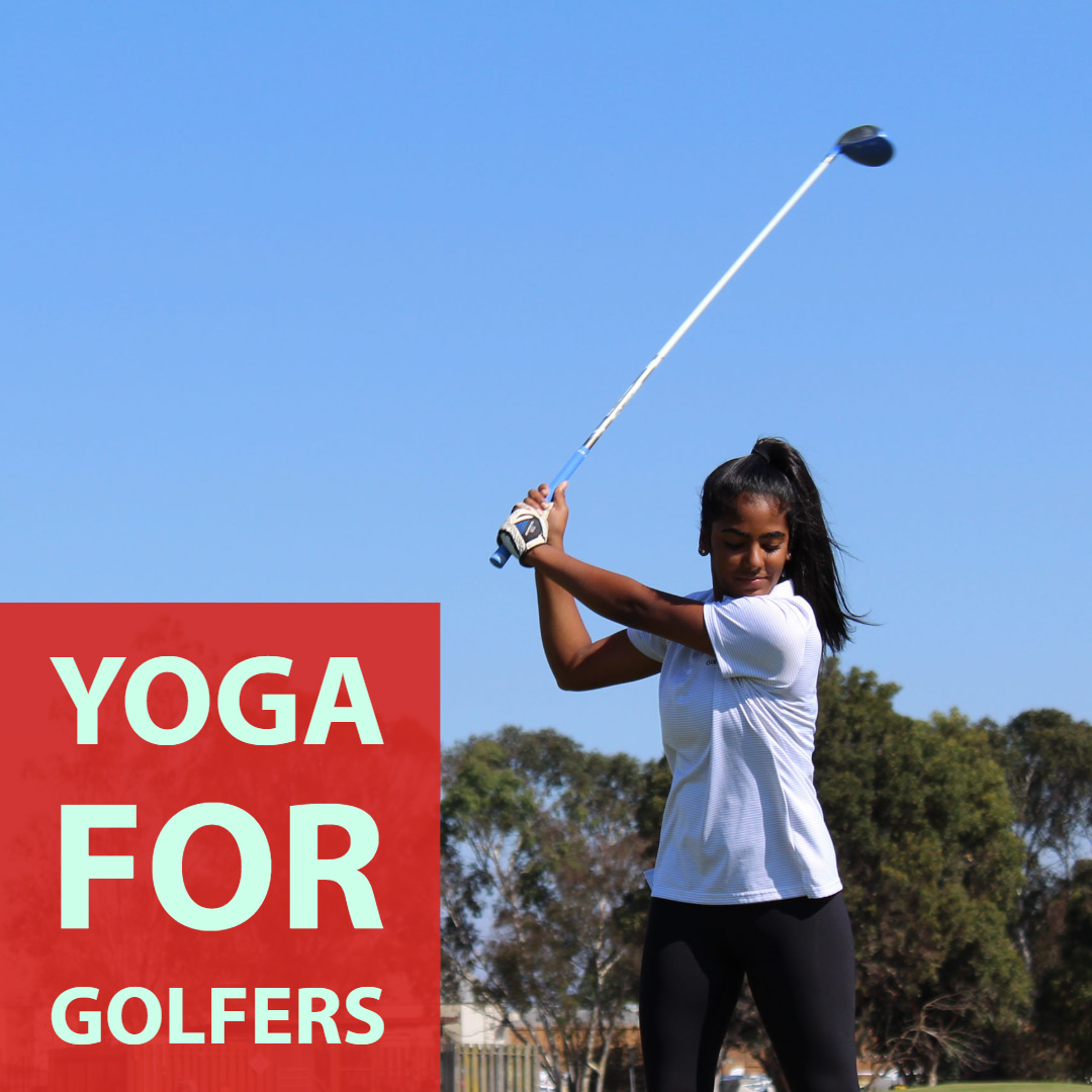 girl swinging golf club