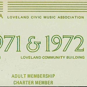 Loveland Performing Arts Ticket