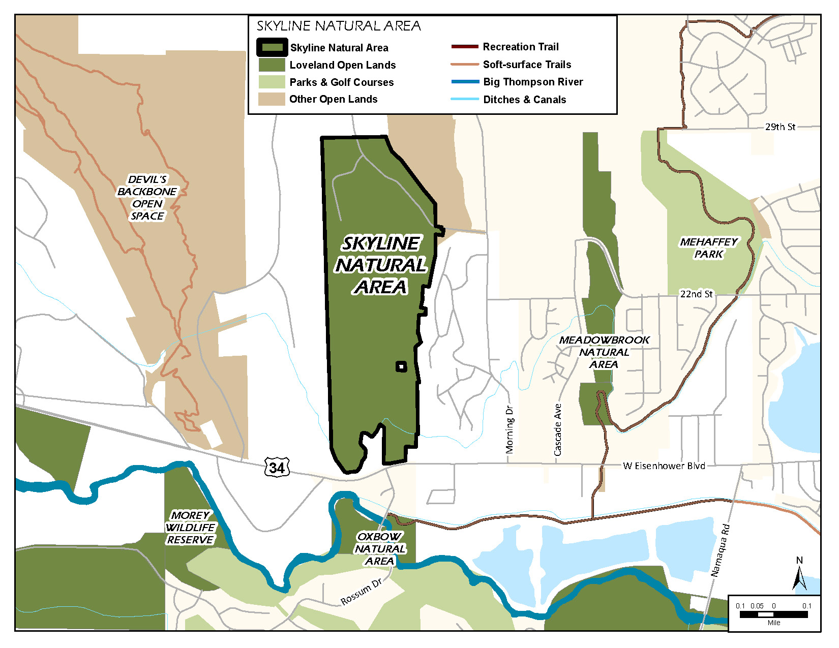 map of Skyline Natural Area