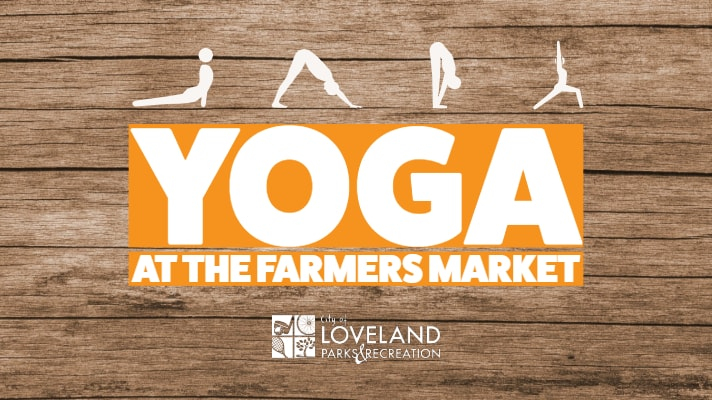 Yoga at the Loveland farmers market