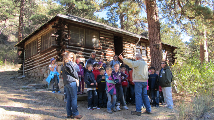 trail host educating public at Viestenz-Smith Mountain Park