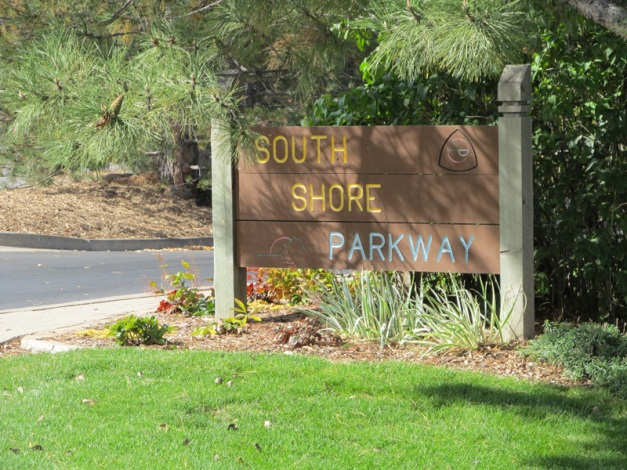 South Shore Parkway Sign