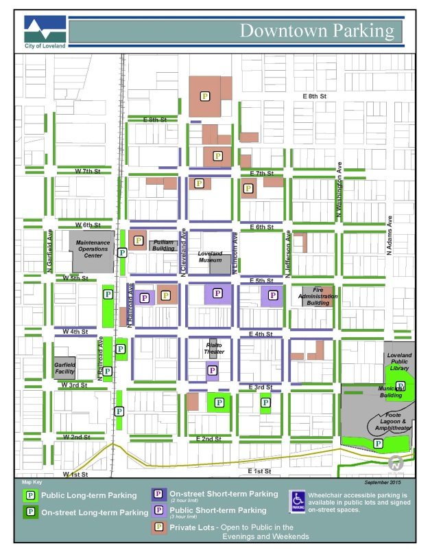 Loveland Downtown Parking Map | City of Loveland