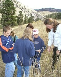 Children learn about wildlife