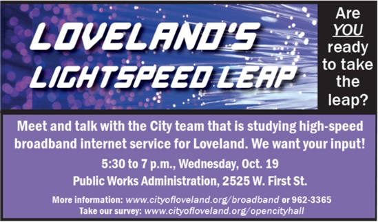 Broadband Open House Oct. 19, 16
