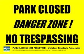 Park Closed Flood